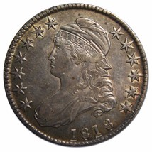 1818 Capped Bust Half Dollar 50¢ Coin Lot# MZ 4498