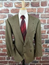 Polo Univ. Club Ralph Lauren 2 Btn Silk Wool Sport Coat Green Herringbon... - $48.37