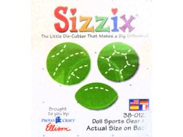 Sizzix Doll Sports Gear #1 Die, Football, Soccer Ball, Football #38-0122