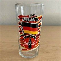 Coca-Cola World Cup USA 94 Germany Alemania Siempre 12 oz Glass Tumbler - $8.91