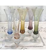 Colorful Liquor glasses colorful glassware barware 6 piece glass set blu... - $25.00
