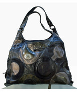 Authentic COACH Inlaid Op Art Maggie Leather Hobo Shoulder Bag F0969-14298 - $89.09