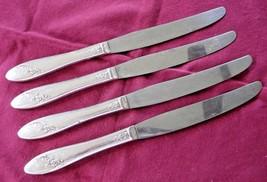 Oneida Tudor Plate QUEEN BESS II 4 Hollow Handle  Dinner Knives 1946 Dia... - $11.87