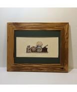 "Kitchen Shelf Finished and Framed Cross Stitch 12"" x 15"" Coffee Grinder ... - $24.18"