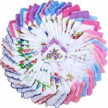 Ladies Hankies Women Floral Handkerchiefs Vintage Cotton Handkerchiefs (... - $52.15
