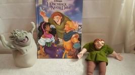 Walt Disney's Hunchback Of Notre Dame Gift Set, Book, Puppets Hugo, Quas... - $21.49