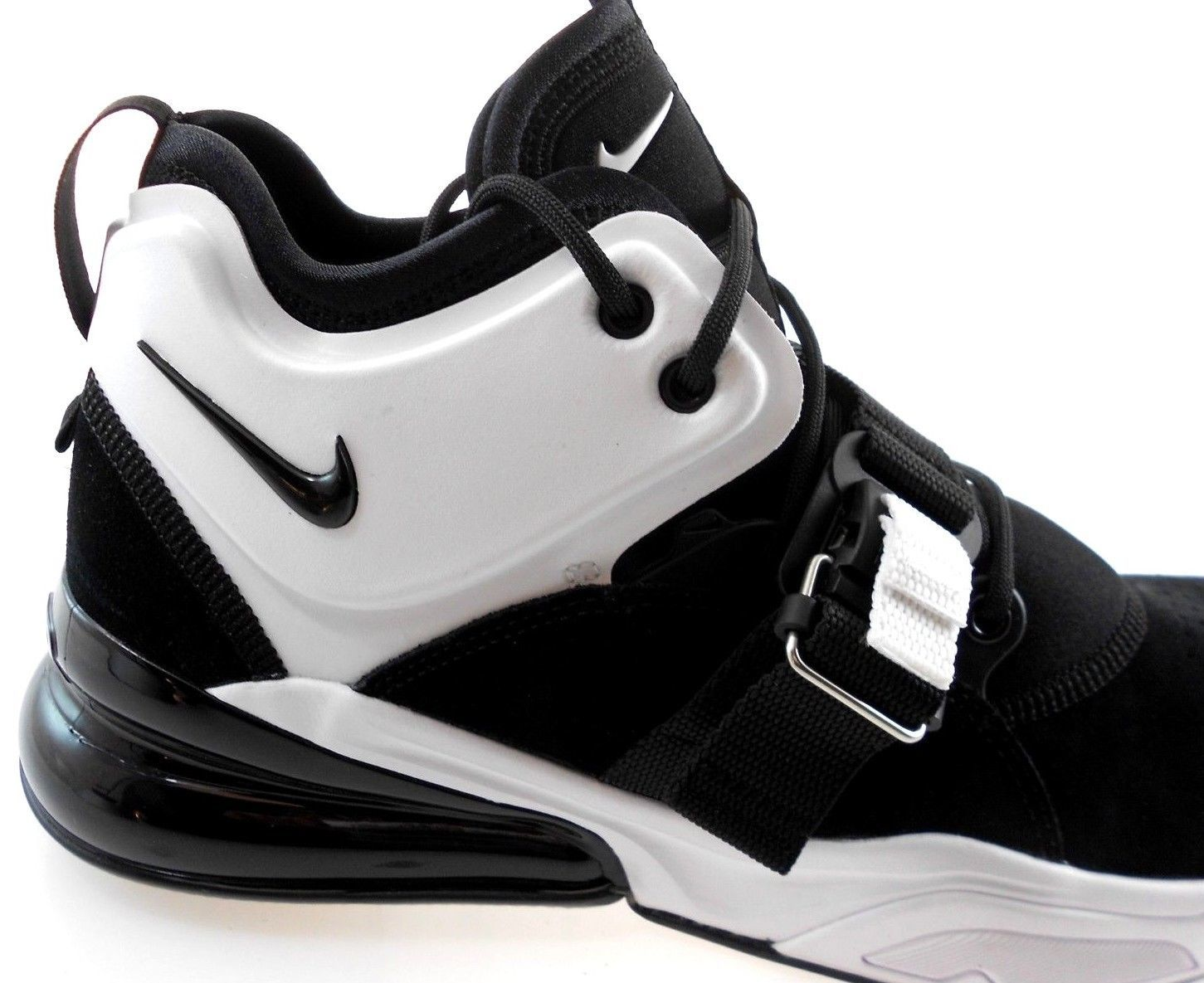 bca10724ac57 Nike Air Force 270 Men s BLACK WHITE Shoes