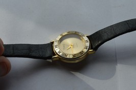 Vintage ''TIME'' women's quartz watch, Leather band,  Runs,  NEW BATTERY - $12.16