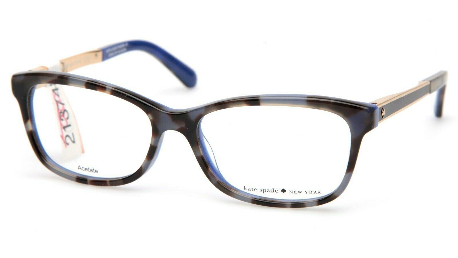 NEW Kate Spade ANGELISA S5A Blue Havana Eyeglasses Frame 51-15-135mm - $83.29