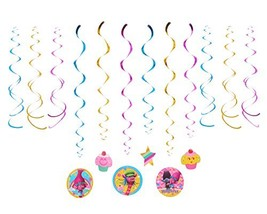 American Greetings Trolls Hanging Party Decorations (12-Count|Swirl Deco... - $9.06