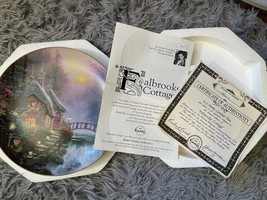 """Knowels 1993 """"Fallbrooke Cottage"""" by Thomas Kinkade Collectors Plate (48... - $28.05"""