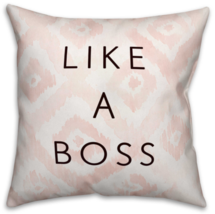 "New ""Like A Boss"" Throw Pillow in Pink/White/Black Cushion Decor Home So... - ₨2,910.00 INR"