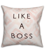 "New ""Like A Boss"" Throw Pillow in Pink/White/Black Cushion Decor Home So... - $42.28"