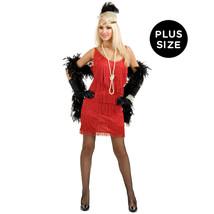 Charades Women's Plus-Size Fashion Flapper Dress, Red, 1X - $89.69