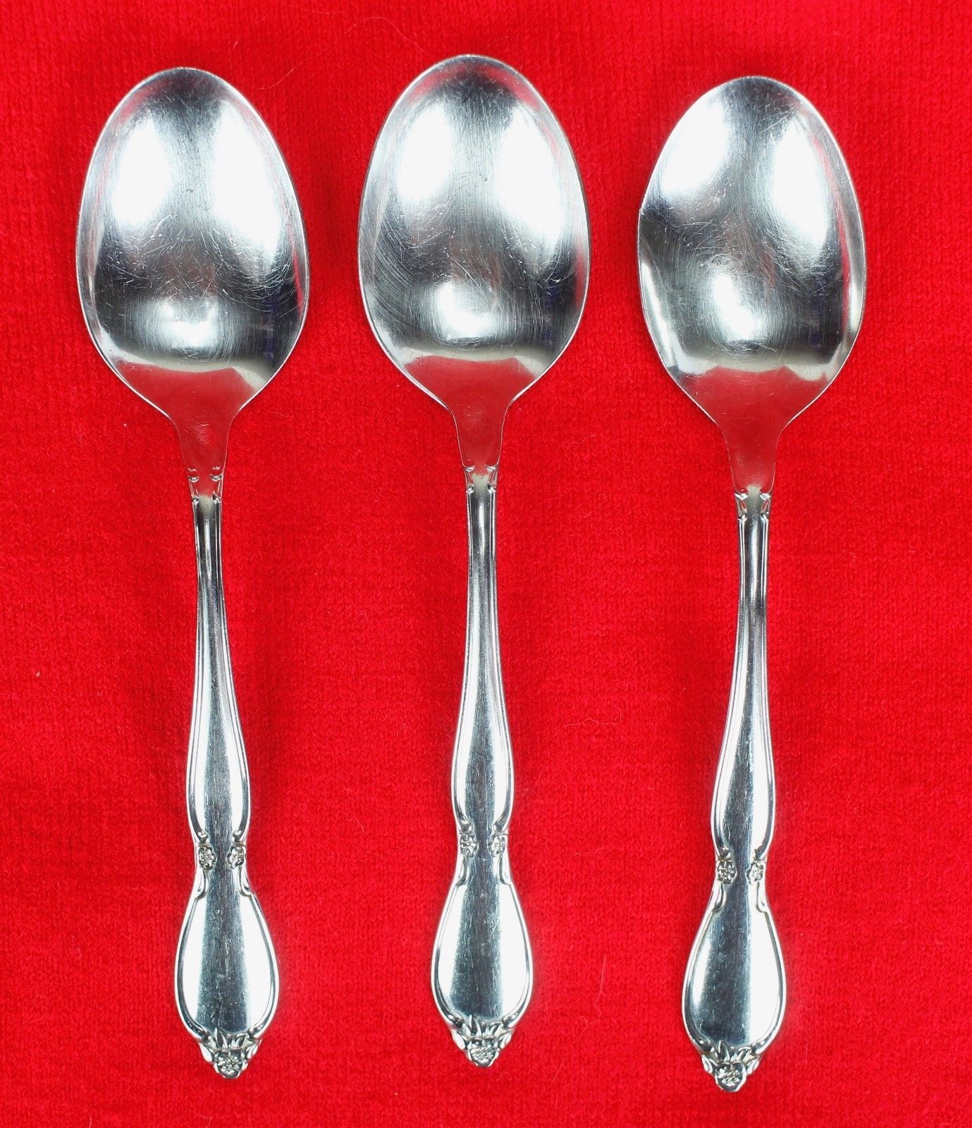 """3X Place Oval Table Spoons Oneida Chatelaine Stainless Glossy Flatware 6 3/4"""""""