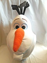 "Disney Frozen Olaf Snowman Head 15"" Plush 2015 Decorative Pillow Jumping Beans - $19.79"