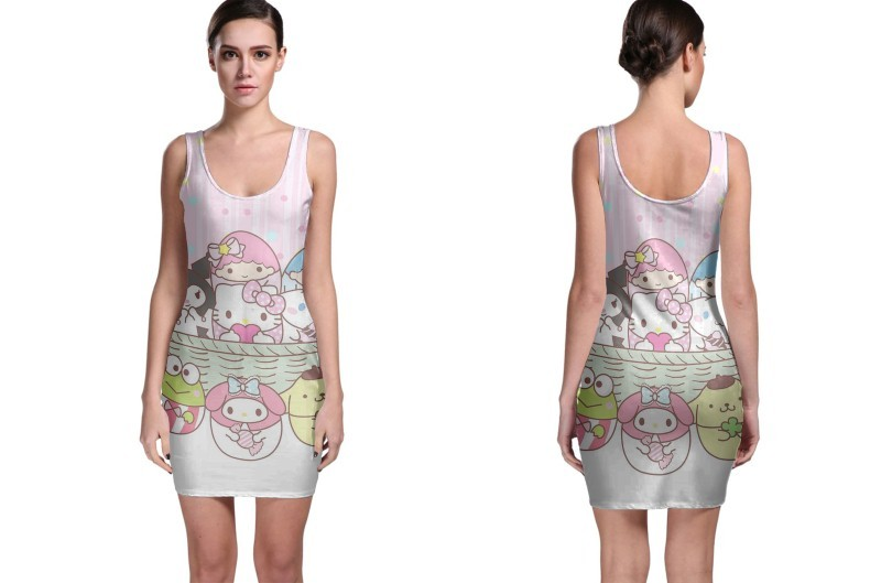 Primary image for Hello Kitty Easter Egg Bodycon Dress