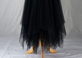 Black Tulle Layered Skirt High Low Tiered Tulle Skirt for Adults Layered Tutu  image 6