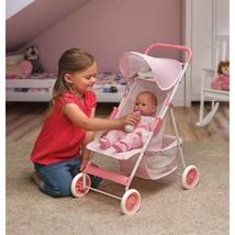 "Kids Pretend Play Folding Doll Umbrella Stroller Pink Girls Toy For 18"" ... - $29.95"