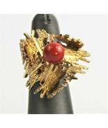 VINTAGE Jewelry SIGNED GROSSE GERMANY DIOR 1967 MODERNIST BRUTALIST RING... - $150.00