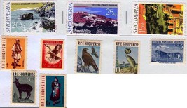 Stamps Albania Sheet of 10 Stamps With Albania 1962 Eagle - $9.65