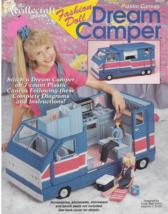 Plastic Canvas Pattern Book-DREAM CAMPER For Fashion Doll Stitch on 7 Co... - $18.56