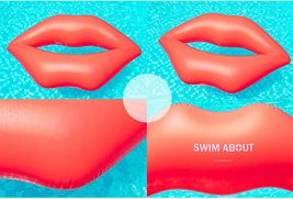 "Big lips Inflatable Pool Rafts Swim Ride On Floats Tube for Adults 74.8"" 190cm image 3"