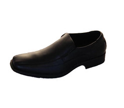 Mens Shoes Work Formal Black Slip On Step On Air Nathan Leather Shoe 6-12 New - $41.27