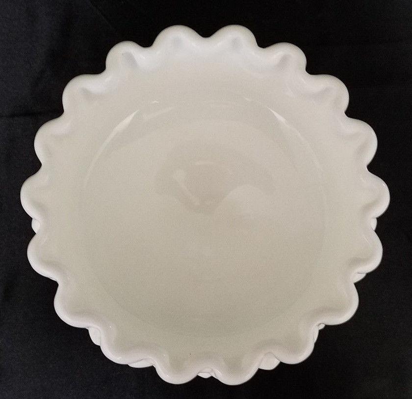 VINTAGE FENTON WHITE MILK GLASS HOBNAIL PEDESTAL COMPOTE (CIRCA 1950'S)