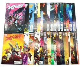Uncanny X-Force 2 3 5-21 23-34 Nearly Complete w Signed Issues Marvel Comic Lot - $101.58