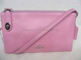 NWT Coach # 36552 Smooth Leather Crosby Crossbody in Marshmallow. Lilac Color - $149.00