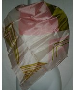 Designer Signed Andre Scarf Vintage Hand Rolled Edge Ladies 27 Inch Square - $14.99