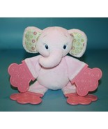 Bright Starts Pink Baby Elephant Teether Plush Rattle Soft Toy Kids II S... - $14.50