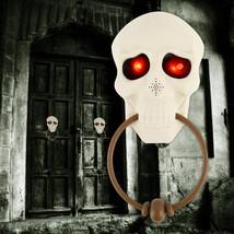 Skull Doorbells Halloween Scary Talking Door Sounds Prop Light Party Dec... - $17.99