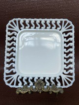 "Vintage Westmoreland ? Milk Glass ""Square S"" Dinner Plate ~ No Chips! Lovely - $16.00"