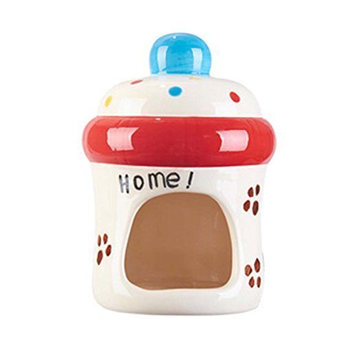 Primary image for Panda Legends Lovely Milk Bottle Ceramic Hamster Hideout Hut Cave Small Animals