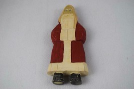 "Carved Wooden Santa Standing Figurine 10"" Tall - $10.00"