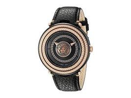 Versace VQL030015 V-Metal Icon Round Leather Strap Unisex Watch - $2,586.31