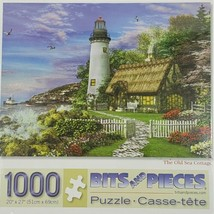 The Old Sea Cottage Puzzle 1000 piece Bits and Pieces Lighthouse Dominic Davison - $22.95