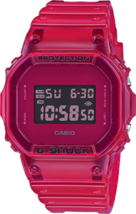 NEW Men's Casio G-Shock Digital Color Skeleton Series Red Resin Watch DW... - $107.80