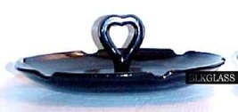 "Smith Black Amethyst Glass Heart Handle CHS 7"" - $19.99"