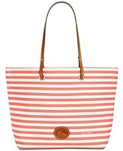 Dooney & Bourke Addison Medium Nylon Stripe Tote (Watermelon) - $188.00