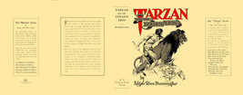 Edgar Rice Burroughs TARZAN AND THE GOLDEN LION facsimile jacket 1st McC... - $21.56