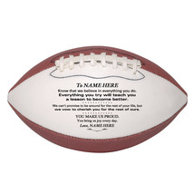 Personalized Mini Football Gift To Our Daughter, Son, Granddaughter, Grandson - $34.95