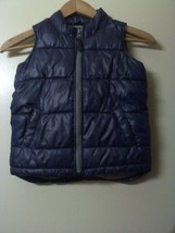 Old Navy Puffy Quilted Bubble Boys Vest Size 5T Blue  - $18.23