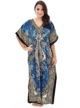 Long Kaftan Dress Hippy Boho Maxi, Free Size Women Caftan Top Dress Gown - $11.29