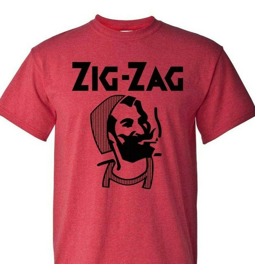 Zig Zag T-shirt retro vintage hippie style cotton blend graphic printed tee