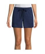 St. John's Bay American Navy Active Knit Pull-On Shorts New Size L, XL, XXL - $12.99
