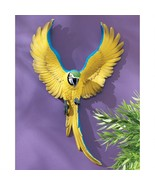 Phineas the Flapping Macaw Bird Wal Sculpture - $50.52