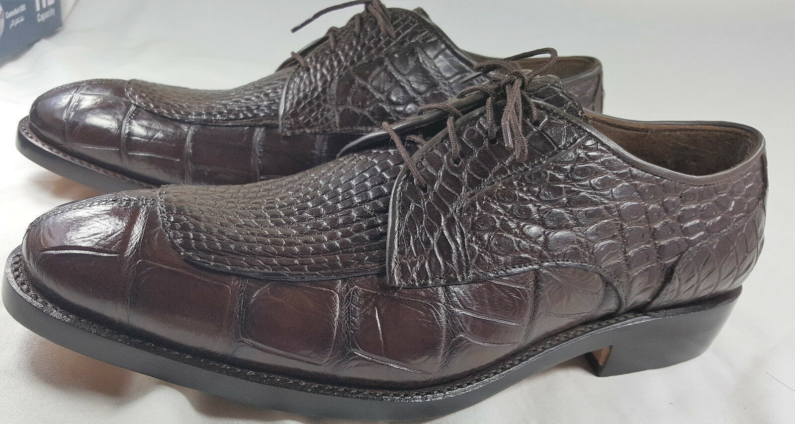 Primary image for Brown Belly Crocodile Real Leather Oxford Classic Pattern Design Shoes US 8.5-9